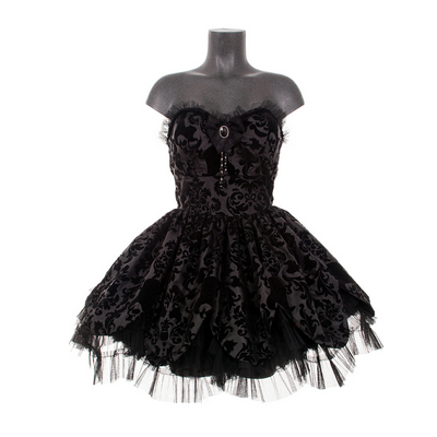 Black Petal , Vestido gótico corto. Vestido corto gótico para fiestas